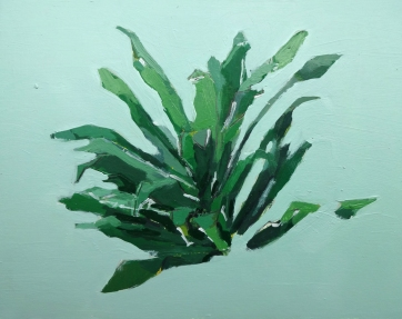 """Plant Study 9"""" x 11"""" Oil on Paper 2017"""