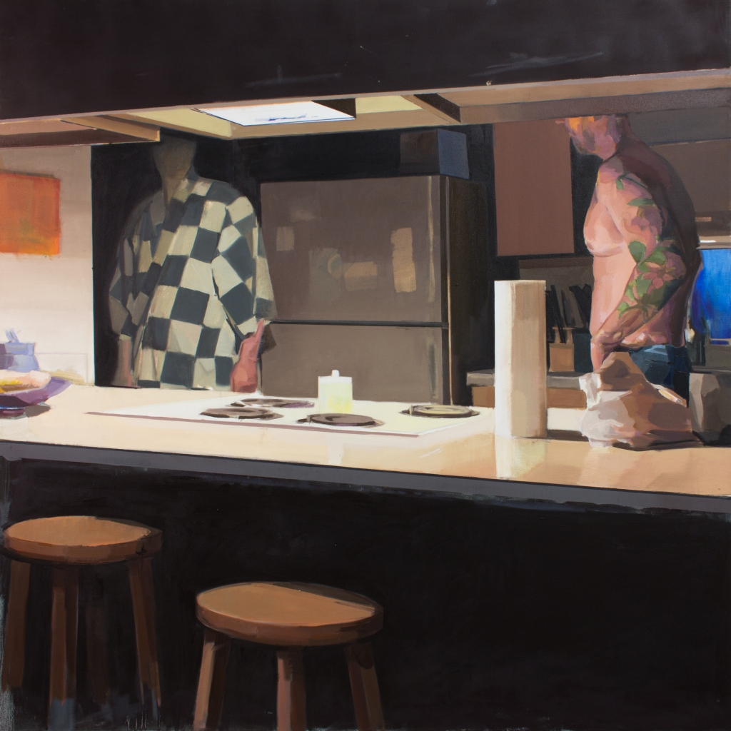 "Kitchen, Work In Progress, 72"" x 72"""